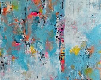 Summer Haze 86 - Original Abstract Contemporary Modern Art Acrylic Canvas _ Free Shipping