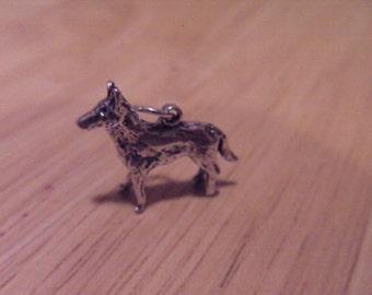 Pendant,Dog,German shepherd,Sterling silver,Gift,