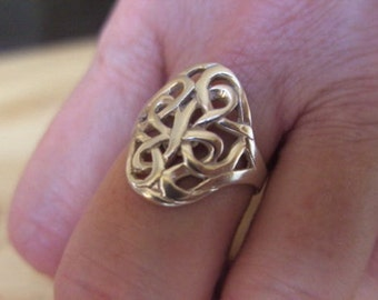 Celtic ring,knot ring,hand made,sterling silver