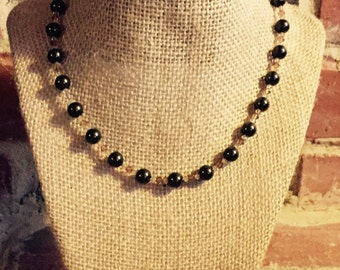 Brown Swarovski Pearl Necklace