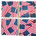 AMERICAN FLAG Ceramic Tile Coasters Set of 4