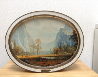 American Masters Russell and Bierstadt Sunshine Biscuit Tin 1988 Limited Edition
