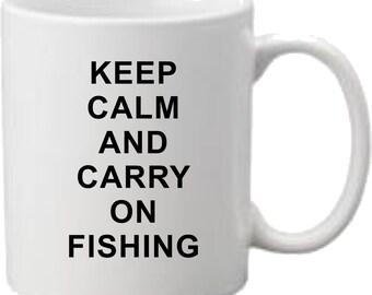 Keep Calm and Carry on Fishing Mug