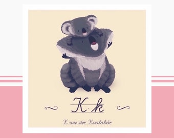 Animal ABC - K like koala bear