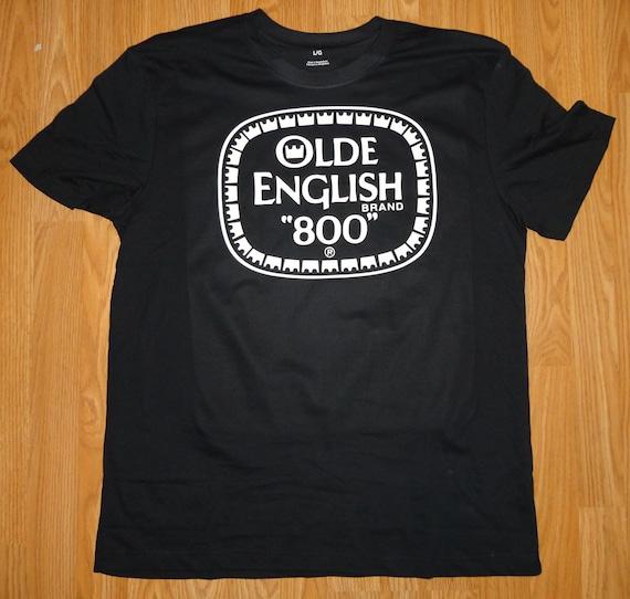 Old English 800 Malt Liquor Brand New T-Shirt Hip by MyStickerGuy