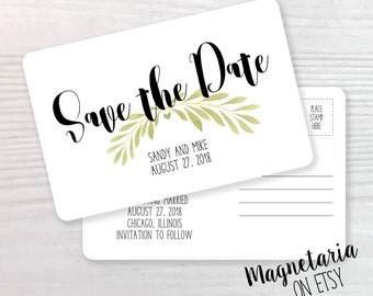 Natural Branches Save the Date Postcards, Wedding Save the Date, Confetti Save the Date, Save the Date Cards