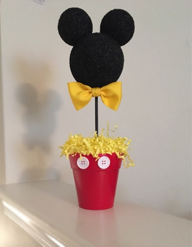 Mickey mouse inspired centerpiece birthday party