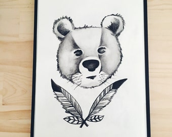 Feather Bear Print