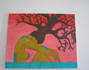 Mother Earth Original Acrylic Canvas Painting