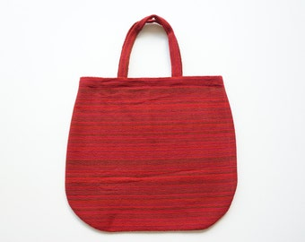 Extra Large Tote / Carry All / Weekend Bag / Beach Bag / Red Recycled