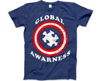 Autism Awareness Captain Autism Global Awareness