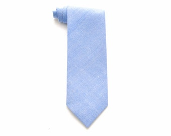 ClewistonChambray Blue Boy Necktie - Pretied or Traditional