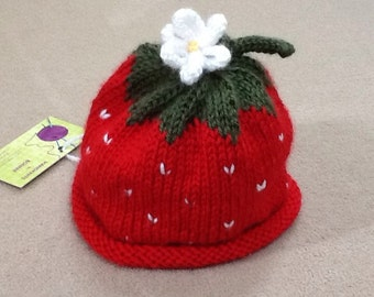 Strawberry hat for baby!