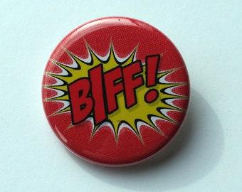1 1/4 Pinback Button | BIFF! | Comic Book Sound Effect | Pop Art