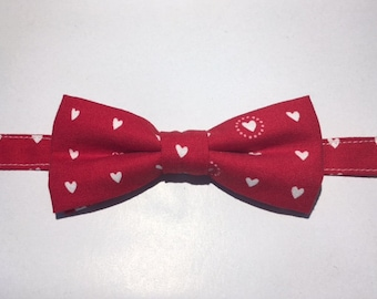 Baby Bow Tie Heart Print