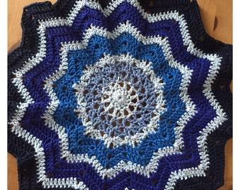 Shades of Blue Mandala - approx 35cm