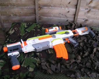 Nerf Modulus ECS-10 Modified (Basher Supersonic motors and re-wired)