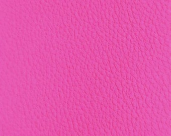 Sold by the meter faux leather hot pink 70 cm width