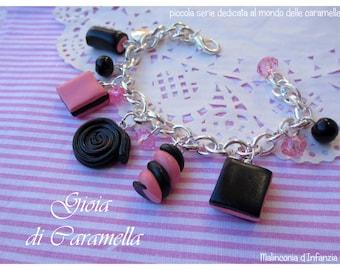 "Fimo bracelet ""sweet licorice""-Malinconiadinfanzia-Handmade"