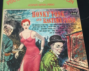 Collection of Ragtime Music- 3 Vinyl Records- Scott Joplin Ragtime- Puddin' Head Smith and His Orchestra Honky Tonk and Ragtime