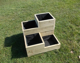 Large Wooden Planter / Decking Planter / Stacked planter / Tower / Step /1-2-3-4