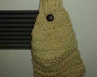 Crochet Kitchen Handtowel- Tan