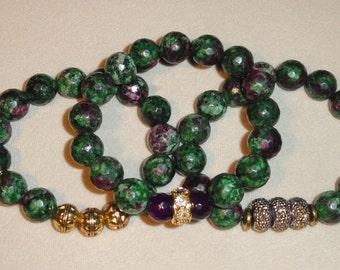 Multi-colored Agate Bracelet