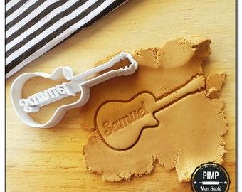 Cookie Cutter 3D Guitar & Custom Name