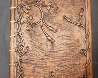 Wooden Album with woodcarving