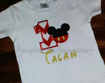 Mickey Mouse 1st Birthday Shirt!!