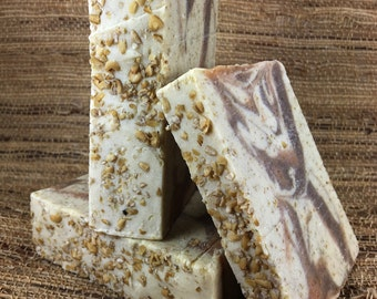 Oatmeal Soap- Handmade- Orange-Cinnamon-Clove