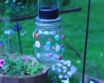 mason jar solar lantern for deck, patio, garden or inside!