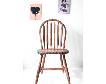 Loft Style Wooden Desk Chair