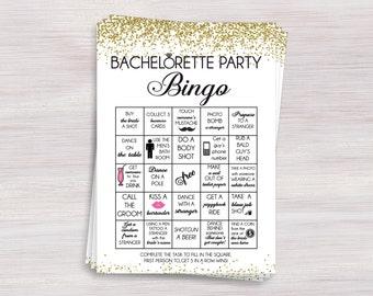 Bachelorette Bingo Game, Bachelorette party games, Hen party funny games, Gold Bachelorette ideas, Bachelorette Activity, Shower activities,