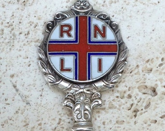 Lovely Vintage  RNLI Sterling Silver Souvenir Spoon, London 1971, John Pinches