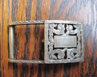 Vintage Mexico Sterling Belt Buckle
