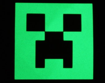 Creeper from Minecraft glowing in the dark sticker