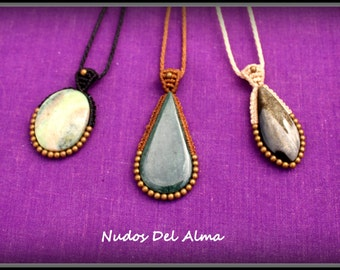 brass and stone necklaces