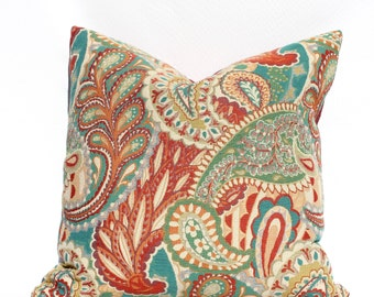 Contemporary Paisley -- Decorative Pillow Cover