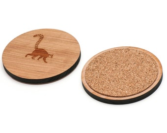 Lemur Wooden Coasters Set of 4, Gifts For Him, Wedding Gifts, Groomsman Gifts, and Personalized