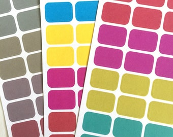 Bright Muteds - Color Coding Labels-Stickers-Removable- for your Planners, Agendas, and EC