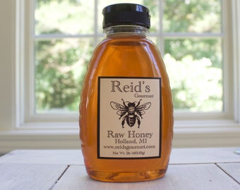 Reid's Raw Honey 1lb Plastic Jar