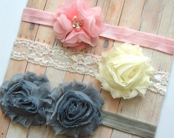 Baby Headbands Set - Newborn Headbands- Baby Girl Headbands - Baby Bows -Baby Hair Accessories - Black Baby Headband - Baby Hair bows