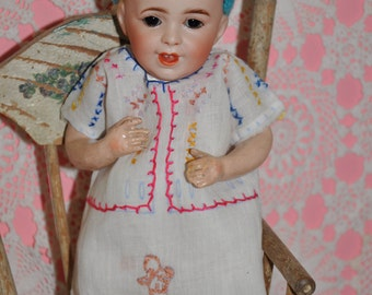 "9"" SFBJ antique 236  baby doll in fabulous antique clothing Now On SALE"