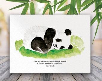 Postcard - zen Panda