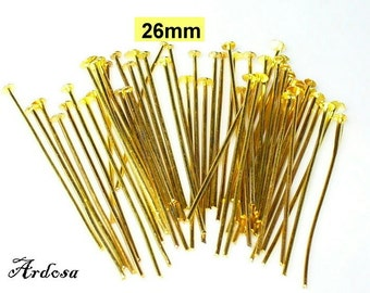 50 pins 26 x 0, 8 mm gold (21.26)