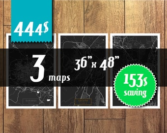 SALE! 3 maps 36''x48'' size - 153 dollars saving! Great deal -SAVE 153 dollars - get 3 maps with discount!