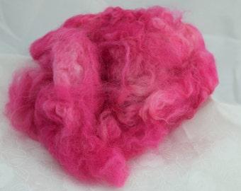 Pink Alpaca Fiber