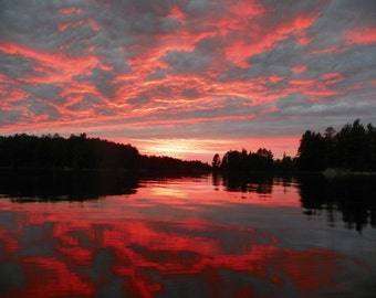Boundary Waters, Sunset, Landscape, photography, Scenic,