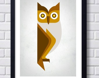 Retro Owl Print